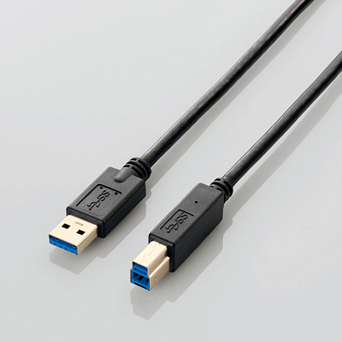 USB 3.0-Compatible Cable, Type A Connector <=> Type B Connector