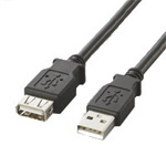USB 2.0 Extension Cable, Type A Connector <=> Type A Connector Female