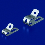 Metal cable support fittings / for use with electric circuit materials and coaxial cables