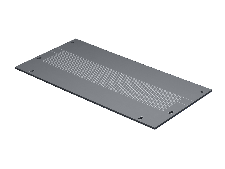 Gland plate for compartment divider with duct