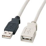 USB extension cable A⇔A female (PC99 standard)