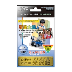 Paper for IJ Printer, Glossy Paper for Digital Camera, 89 x 127 mm