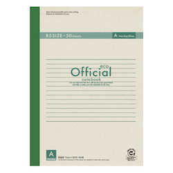 Official Eco Notebook B5 A Rule 50 Sheets