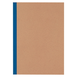 Plain Cover Sheet, Notebook, Blue