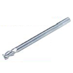 Solid End Mill for Processing Aluminum (Long / Slim Shank, with Miniature Corner R), Model AL-SEES3-LS-R02