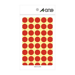 Color Label 15 mm Round Red