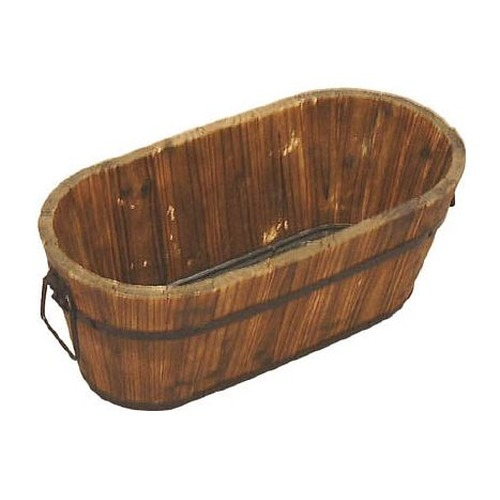 Burnt Cedar Mesh Planter (Oval Type)