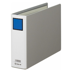 KING FILE G B5E Gray Standard: B5 Size Landscape Back Width: 66 mm Bind Thickness: 50 mm Appropriate Capacity: 500 Sheets