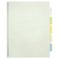 Transparent Index Pocket, Standard: A4 Size Portrait Type; Number of Holes: 30; Specifications: 5 Colors / 5 Tabs / 5 Sheets / 1 Set