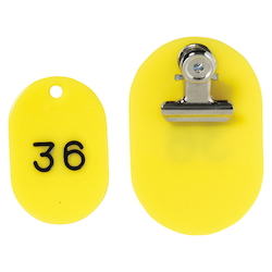 PP Parent/Child Tags, Continuous Numbers 1-50 Yellow