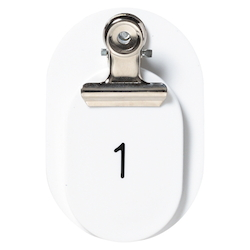 PP Parent/Child Tags, Continuous Numbers 1-50 White