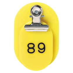 PP Parent/Child Tags, Continuous Numbers 51-100 Yellow