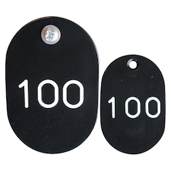 PP Parent/Child Tags, Continuous Numbers 51-100 Black