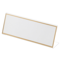 Acrylic Card Stand L Type, Transparent Outer Dimensions: Width 200 x Height 73 mm
