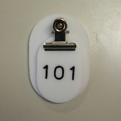 Parent/Child Tags, Continuous Numbers 101-150 White