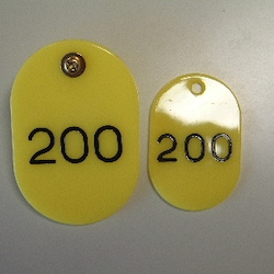 Parent/Child Tags, Continuous Numbers 151-200 Yellow