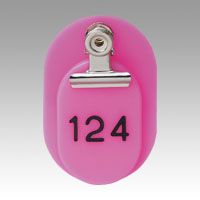 Parent/Child Tags, Continuous Numbers 151-200 Pink