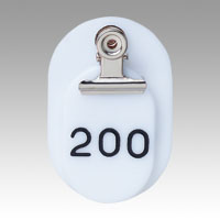 Parent/Child Tags, Continuous Numbers 151-200 White