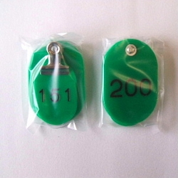 Parent/Child Tags, Continuous Numbers 151-200 Green
