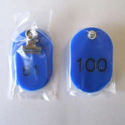Parent/Child Tags, Continuous Numbers 51-100 Blue