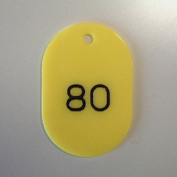 Small Number Ticket, Serial 1-100 Yellow