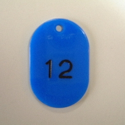 Small Number Ticket, Serial 1-100 Blue