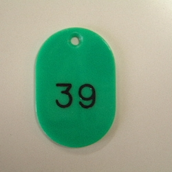 Small Number Ticket, Serial 1-100 Green