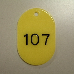 Large Number Ticket, Serial 101-150 Yellow