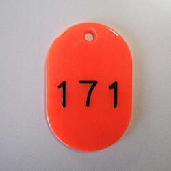 Large Number Ticket, Serial 151-200 Red