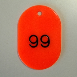 Large Number Ticket, Serial 51-100 Red