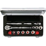 Socket Wrench Set (Drive 9.5 mm, Inch Sizes)