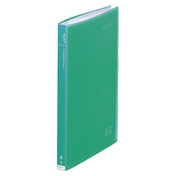 Request / Transparent Clear Book, A4 Size Portrait, (40 Pockets), Green
