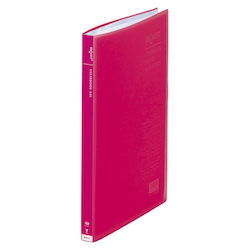 Request / Transparent Clear Book, A4 Size Portrait, (40 Pockets), Red