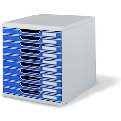 Office Set System II 10 Tray, Blue