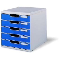Office Set System II 5 Tray, Blue