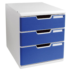 Office Set System II 3 Tray, Blue