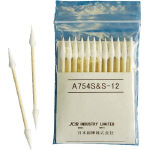 Industrial Cotton Swab (Fine Tip Cone Type 4.0 mm, Wooden Stick)