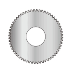 Solid screw slotting saws