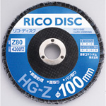 Disque Rico, φ100, grains abrasifs en zircone, conique
