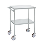 Stainless Steel CS Utility Cart with Large Casters and Handle