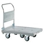 Plastic Hand Truck, 5-wheel, Standard Casters, Foldable Handle