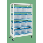 Rack multiple, type conteneur de stockage (mobile)