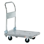 Plastic Hand Truck, Silent Casters, Foldable Handle