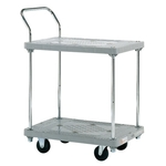 Plastic Hand Truck, Standard Casters, 2-level Single-handle