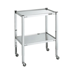 Stainless Steel Height-adjustable Mobile Table, Shelf Board Tray Type