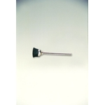 Miniature Black Bristle Shaft Mounted Cup Brush