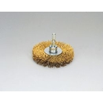 Quick Steel Plated Wire Wheel Brush (Yellow Strand)