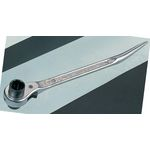 Double-ended Ratchet Wrench with Reversed Curve Drift Nickel Chrome Plate Finish