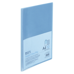 Clear File, A4, 10P, Blue