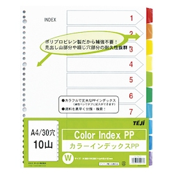 Color Index PP A4 10 Sheets 30 Holes